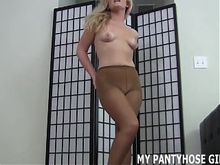 Let me get my pantyhose on first JOI